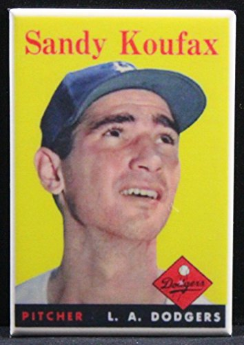 Sandy Koufax Baseball Card Refrigerator Magnet.
