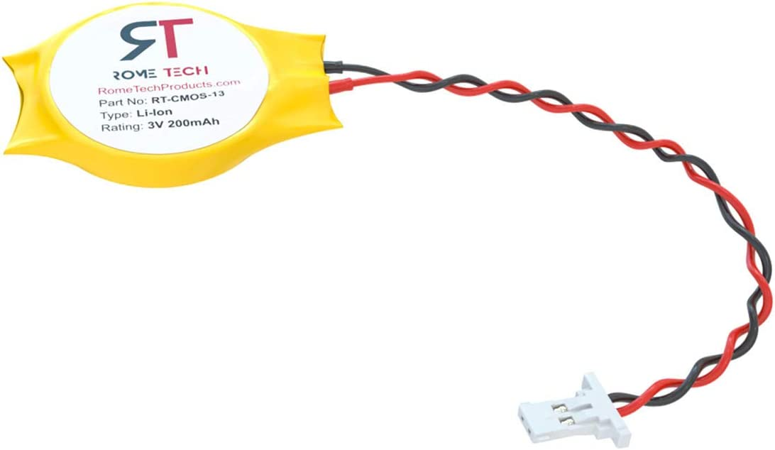 CMOS Battery for DELL XPS 15 13 9343 9350 9360 9365 - BIOS RTC ML1220 Battery with 2 Wire Cable