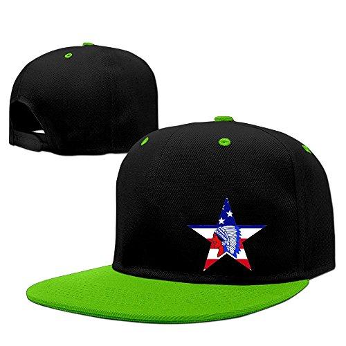 Custom Unisex-Adult Indians USA Flag Adjustable Hit Hip Hop Baseball Cap Cap Hats (Dale Walking Dead Costume)