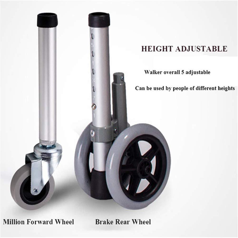Crutch Andadores para Ancianos con Ruedas, Caminante Portátil ...