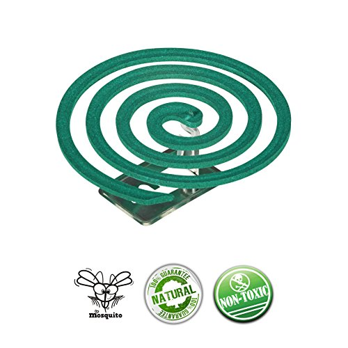 LSK Mosquito Sticks Repellent Coils - Natural Jasmine scent, Non toxic - Outdoor use and suitable for living room and bedroom - Box 5 pairs (10 rolls) by LSK