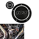 YHMTIVTU Derby Timing Cover Points Cover for Harley Dyna Softtail Touring 1999-2016 Gloss Black