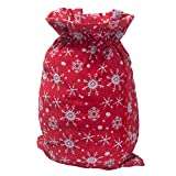 S-DEAL Santa Sack with Drawstring 20x27 Inch Gift