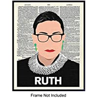 Ruth Bader Ginsburg Pop Art Wall Decor - RBG Poster Picture, Great Gift for Contemporary, Modern Art, Supreme Court Fans - Great Home, Apartment, Office or Room Decoration - 8x10 Photo Print