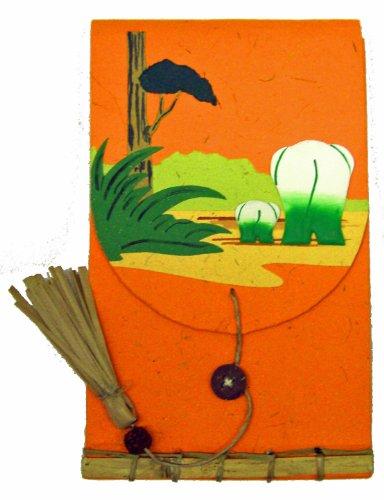 Mr. Ellie Pooh Elephant Dung Paper Fancy Memo Book, Orang...