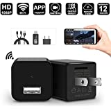 WIFI Hidden Spy Camera - 1080P USB Wall Charger Spy Hidden Camera/Nanny Spy Camera Adapter - Wi-Fi Remote View - Motion Detection - Charging Phones - Support iOS & Android.PC