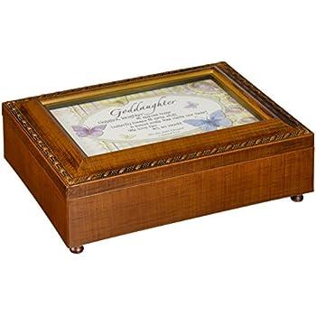 cottage garden child of god inspirational woodgrain traditional music box plays. Black Bedroom Furniture Sets. Home Design Ideas
