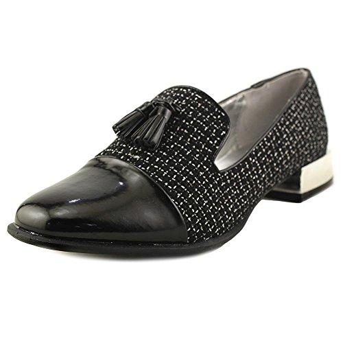 Bellini Womens Bainbridge Tassel Loafer Black,white Boucle Fabric