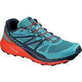 Salomon Sense Ride Running Shoe – Men's Fjord Blue/Cherry Tomato/Navy Blazer 10.5 Review
