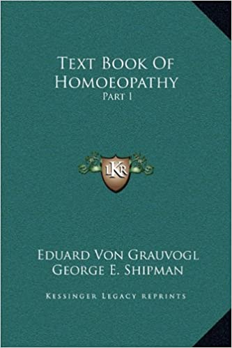 Book Text Book of Homoeopathy: Part I