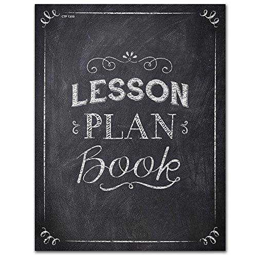 (Creative Teaching Press Chalk It Up! Lesson Plan Book, Black/White)