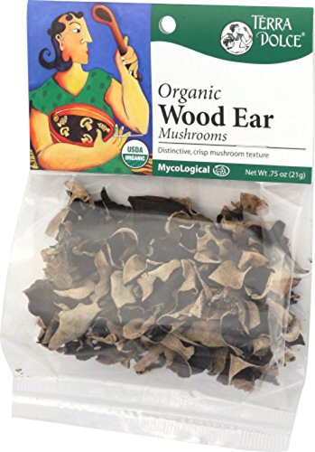 Price comparison product image Terra Dolce Organic Wood Ear Mushrooms,  0.75 Ounce