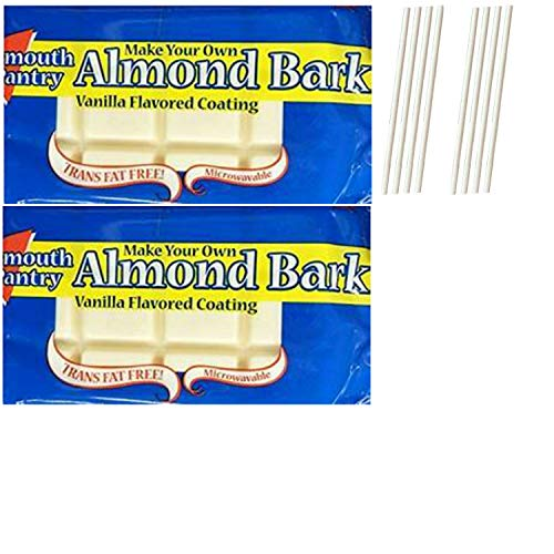 Bark Coating Chocolate - Plymouth Pantry Almond Bark White Chocolate Wafers. Easy One Stop Shopping for the Best Dipping Milk Chocolate. Delicious White Candy Melts For Fondue or Microwave. Also includes 8 Dipping Sticks.