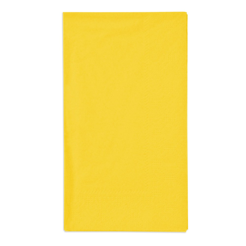 Hoffmaster 180540 Sun Yellow 15'' x 17'' Paper Dinner Napkins 2-Ply - 1000/Case