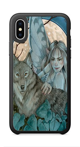 - AOFFLY Case for Apple iPhone X 5.8 Inch Only - Linda Ravenscroft - Fairy Of The Night - Shock Absorption Protection Phone Cover Case