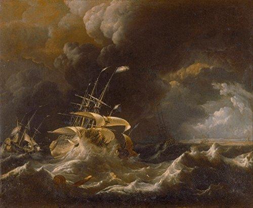 Odsan Gallery Dutch Merchant - Ships In A Storm - Ludolf Bakhuizen - Giclee Canvas Prints 36
