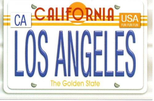 T-508 SOUTHERN CALIFORNIA LOS ANGELES LICENSE PLATE POSTCARD