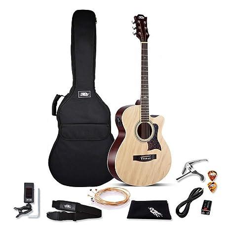 Boll-ATur 38 pulgadas Single Board Caja eléctrica Guitarra Folk ...