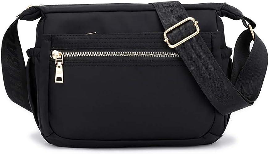 Waterproof Oxford Messenger Bag Women Multi Pocket Crossbody Shoulder Bags Purse