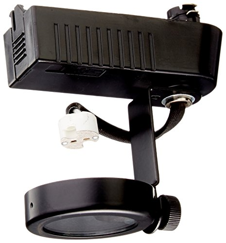 PLC Lighting TR10 BK Gimbal Collection 12V Track Lighting 1 Light Fixture, Black ()