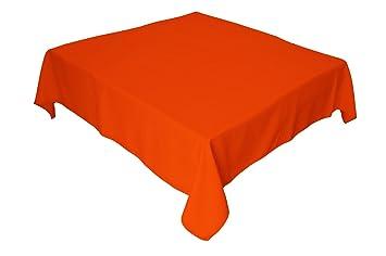 Amazon.com: LA Linen. Mantel cuadrado de popelina de ...