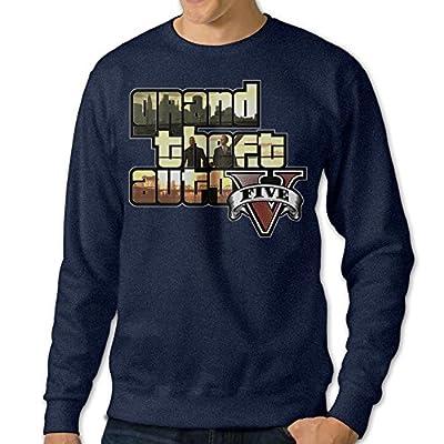 JXMD Men's Grand Theft Auto V Crewneck Sweater Navy