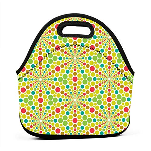 2345 Leather - 02641063 Mandala 12 Stomata_2345 Lunch Bag for Women,Men and Kids - Reusable Soft Lunch Tote for Work and School