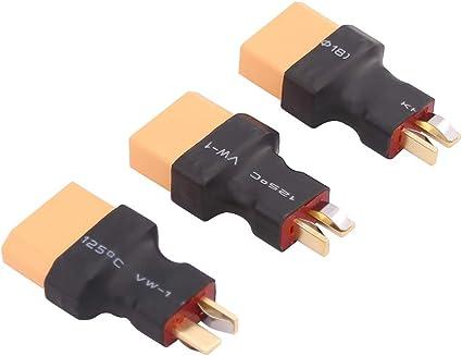 Convert LiPo Batteries Deans T To XT90 Female Connectors Set of 2 Brand New
