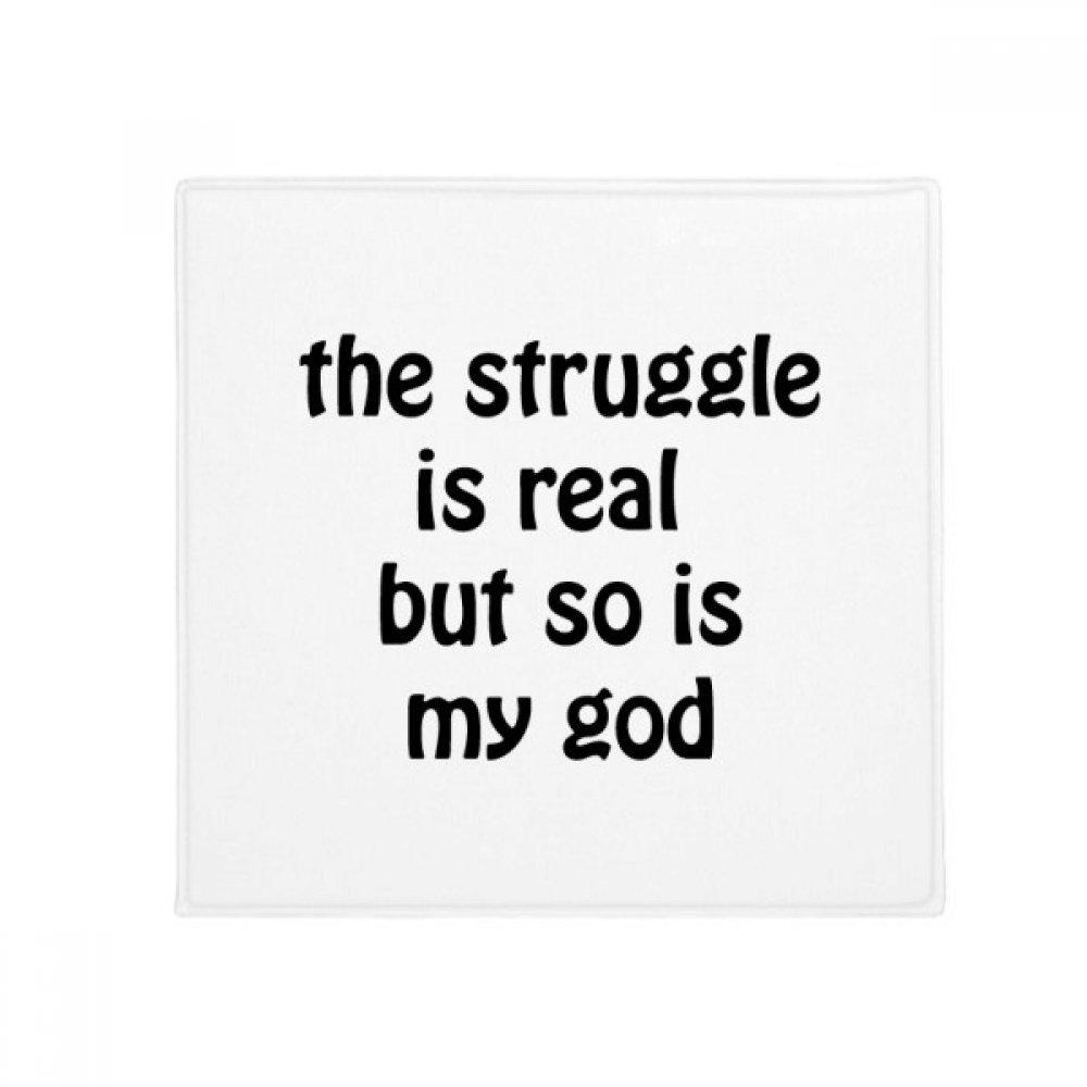 DIYthinker The Struggle Is Real Christian Quotes Anti-slip Floor Pet Mat Square Bathroom Living Room Kitchen Door 60/50cm Gift