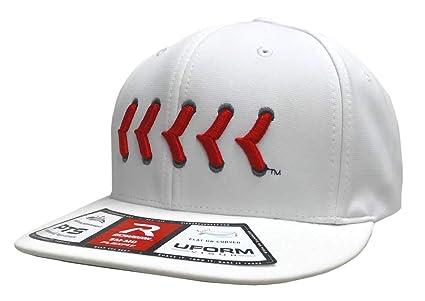 4a6745c7e48b7 Amazon.com  Richardson PTS20 White Red Lace R-Flex Visor Baseball ...