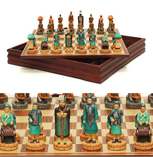LIAN Conjunto de Juego de ajedrez de Estilo Antiguo Chino Coleccionable