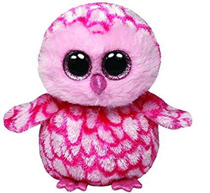4ee30a2b224 Amazon.com  Ty Beanie Boos Pinky Pink Barn Owl Plush  Toys   Games