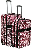 Zebra Print 2 Piece Luggage Set