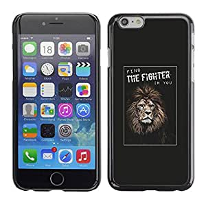PC/Aluminum Funda Carcasa protectora para Apple Iphone 6 Plus 5.5 fighter boxing champion lion poster you / JUSTGO PHONE PROTECTOR