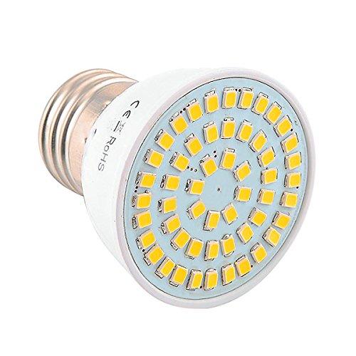 Fashion 2835SMD E26/E27 54LED 5W 400-500Lm Warm White Cold White LED Spotlight AC 110-130V 1PCS Durable (Size : Warm White)