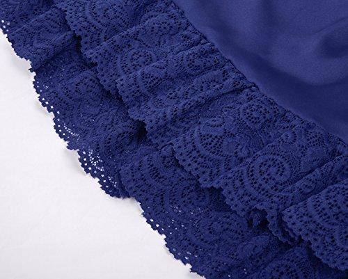 Jupe Jupe Mini Plisse Courte Haute GRACE Dentelle Fonc FR416 KARIN Femme Bleu Taille 0qqSw5T