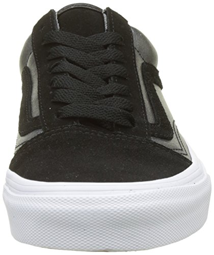 Noir Leather Vans 2 True Old Femme Metallic White Black Skool tone Baskets ErqXCrw