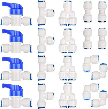 """6PCS Push Fit 1//4/"""" 1//2/"""" BSP FILETTATURA RUBINETTO DRITTO Quick Connessione Osmosi Inversa Filtro acqua"""