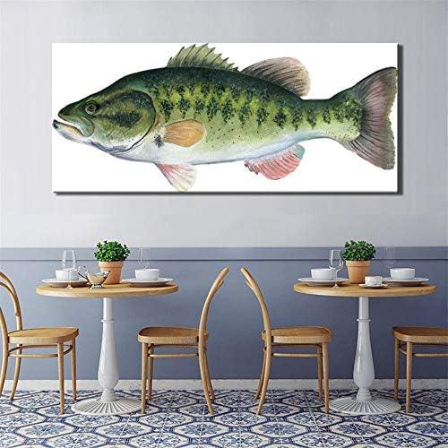 現代の抽象的な魚のポスターとプリントウォールアートキャンバス絵画weever写真用ダイニングルーム壁ホームデコレーション50×1