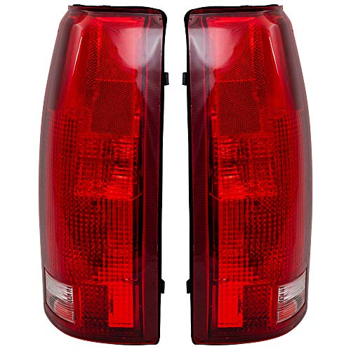 Driver and Passenger Taillights Tail Lamp Units Replacement for 88-99 C1500 K1500 C2500 K2500 C3500 K3500 Pickup Truck SUV 16506355 16506356
