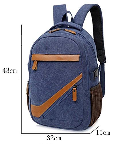 Damen Herren Laptop Rucksack Beiläufig Backpack Schultaschen Reisen Outdoor Rucksäcke Tasche Daypack Khaki Khaki 5RvoNyqA