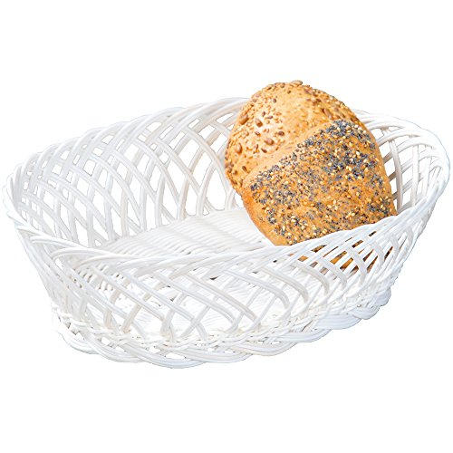 - Kesper 19880 Bread basket oval of plastic, Brown