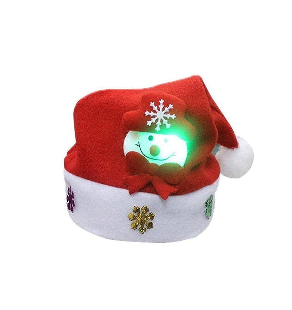 LED Weihnachts-Mütze, ZEZKT LED Hüte LED Leuchtende Strickmütze Wintermütze Damen und Herrn Weihnachten Geschenk Leuchtende Skimütze Weihnachten Weich Nikolausmütze