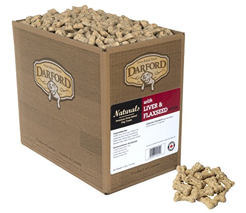Darford Naturals Oven Baked Dog Treats With Liver And Flaxseed Minis, 12 Lb
