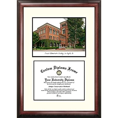 Image of Campus Images CA940V University of Southern California Scholar Diploma Frame, 8.5' x 11' Diploma Frames