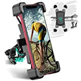 "Bike Phone Mount, TEUMI Detachable 360° Rotation Motorcycle Phone Mount, Stainless Steel Phone Holder for Bike, Handlebar Bicycle Phone Holder Compatible with iPhone 11 Pro Max/X/XS Max/XR/8Plus/7, Samsung S20, Cycling GPS, 4.5""-7.2"" Phone"