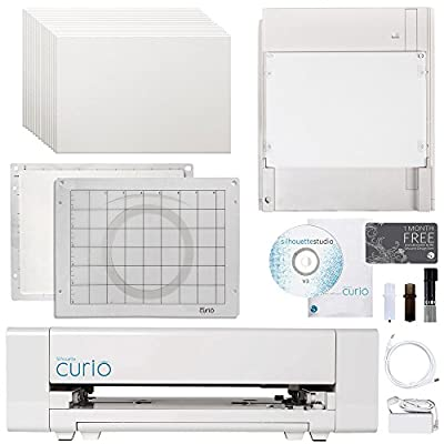 Silhouette Curio Digital Crafting Machine with Embossing Bundle
