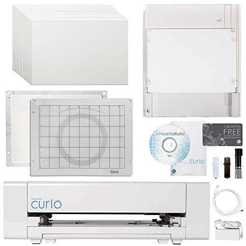 Silhouette Curio Digital Crafting Machine with Embossing Bundle by Silhouette