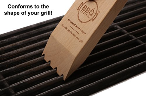 BBQ Essentials All Natural Wood Scraper - Safe, Small, Sustainable Solution to Grill Cleaning by BBQ Essentials (Image #2)