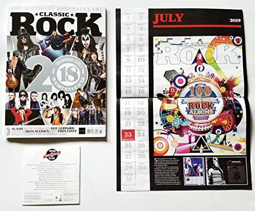 Classic Rock Magazine 20th Birthday Issue 2018 Year In Review + CD & Calendar ()